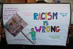 A global citizen treats everyone with respect despite their color, race, religion, language or sexual preference. There is no room for Racism. This poster shows how we can tell children in a simple way that Racism is wrong and we should respect everyone.