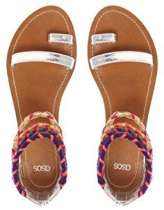 summer sandals, so cute! #ASOS