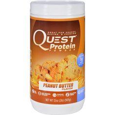 Quest Protein Powder - Peanut Butter - 2 lb - Gluten Free - Wheat Free - Gluten Free - No Added Sugar Dairy Free Recipes, Dog Food Recipes, Gluten Free, Quest Nutrition, Fitness Nutrition, Quest Protein Powder, Protein Power, Low Carb Diet, Protein Shakes