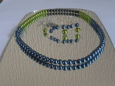 Small Green  String NecklaceMatching by ElainesJewells