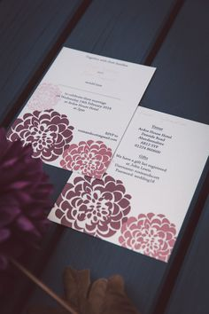 Floral Wedding Stationery at Rosie's Weddings. Floral Wedding Stationery, Special Day, Marriage, Weddings, Gifts, Valentines Day Weddings, Presents, Wedding, Mariage