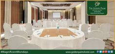 Regal, 2200 sq. ft. conference hall with cutting-edge amenities, offer the perfect settings for business conferences, at Golden Palms Hotel & Spa, Mussoorie. Visit www.goldenpalmshotel.com for more details. #MagnificentMondays
