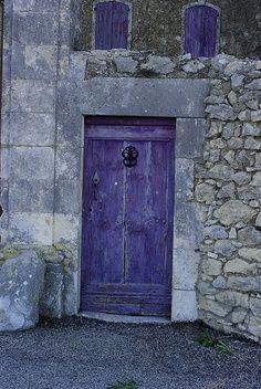 Purple door also windows