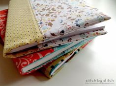 Stitch by Stitch: Fabric Book Cover Tutorial  doing this today!!