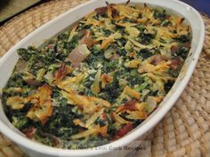 Spinach casserole. Looks good