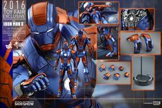 The Iron Man Mark XXVII Disco Sixth Scale Figure by Hot Toys is now available at Sideshow.com for fans of Marvel's Iron Man 3 and house party protocol.