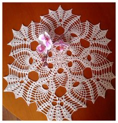 Round ecru crochet tablecloth Table decoration  lace Crochet doily Round tablecloth ornament for the table