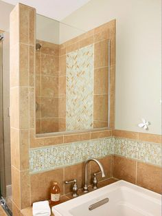 Budget solution: use pricey tile in small doses (like for borders) amidst budget-friendly (yet gorgeous) field tile.