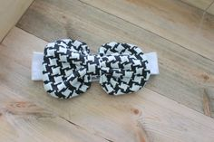 Messy Bow Headband // Houndstooth Bow // Bow by YoureSewTulle