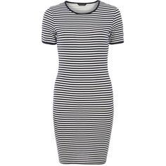 Dorothy Perkins Stripe T-Shirt Dress (14 AUD) ❤ liked on Polyvore featuring dresses, vestidos, tops, robes, navy, striped t shirt dress, striped tshirt dress, cotton t shirt dress, white t-shirt dresses and white short sleeve dress