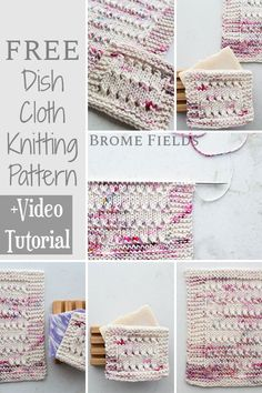 Get your FREE Dishcloth Knitting Pattern! Learn how to knit the the Eyelet Knit Stitch in this VIDEO tutorial :) Dishcloth Knitting Patterns, Knit Dishcloth, Knit Patterns, Knitting Videos, Free Knitting, Knitting Projects, Knit Shrug, Learn How To Knit, Summer Knitting