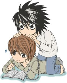 L and Light cute! XD