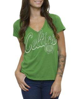 NBA Boston Celtics Vintage V-Neck T-Shirt Nba T Shirts 69d5f43e7f864