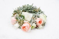 Winter Wedding Flower Crown by Andrea Kuehnis Photography