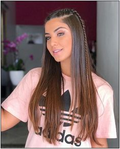 101 modern side braid hairstyles for women page 18 Side Braid Hairstyles, Easy Hairstyles For Long Hair, Pretty Hairstyles, Girl Hairstyles, Strait Hair, Curly Hair Styles, Natural Hair Styles, Hair Looks, Hair Inspiration
