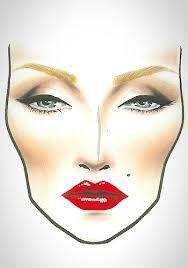 1940s makeup face chart - Google Search