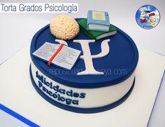 Torta grados psicólogo - psychologist graduation cake