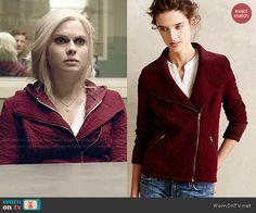 Liv's red textured jacket on iZombie.  Outfit Details: http://wornontv.net/48234/ #iZombie