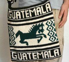 Rich Chocolate Brown and Green Guatemalan Wool by TheMayaMarket