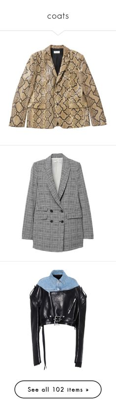 """""""coats"""" by millicent4 ❤ liked on Polyvore featuring outerwear, jackets, snakeskin print jacket, brown jacket, yves saint laurent jacket, yves saint laurent, snake print jacket, blazers, blazer jacket and grey blazer"""
