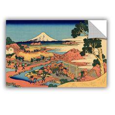 ArtWall ArtAppealz Katsushika Hokusai 'Tea Plantation In Suruga Province' Removable Wall Art