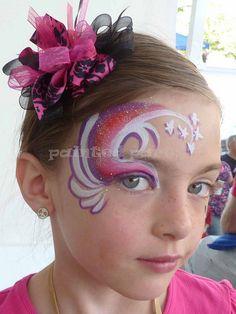 #faceNbodyPaint Pink Swirls