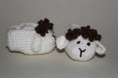 #baby #booties #Sheep #crochet