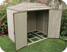 DuraMax 8x6 StoreAll Vinyl Garden Storage Shed w/ Floor