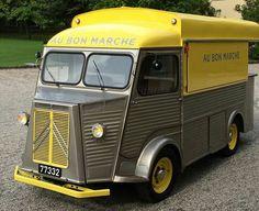 facebook.com/aubonmarcheluxembourg Citroen Van, Citroen Type H, Catering Van, Catering Trailer, Mobile Cafe, Food Vans, Antique Trucks, Coffee Truck, Bus