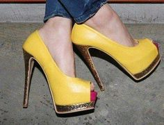 Yellow & gold heels