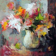 Fall Memories - original oil painting by Julia Klimova at Crescent Hill Gallery
