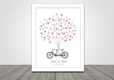 Check out our guest books selection for the very best in unique or custom, handmade pieces from our shops. Tandem, Bike Wedding, Big Day, Poster, Etsy, Cards, Handmade, Home Decor, Bicycle
