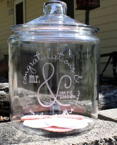 Guestbook & Well Wishes Apothecary Jar by DraisDesigns on Etsy, $40.00