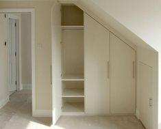 "Vaizdo rezultatas pagal užklausą ""wardrobe solutions for loft conversion"" Eaves Storage, Loft Storage, Stair Storage, Storage Design, Storage Ideas, Loft Room, Bedroom Loft, Wardrobe Storage, Built In Wardrobe"