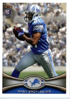 2012 Topps Football Card # 77 Ryan Broyles RC - Detroit Lions (RC - Rookie Card) (NFL Trading Card) by Topps. $3.70. 2012 Topps Football Card # 77 Ryan Broyles RC - Detroit Lions (RC - Rookie Card) (NFL Trading Card)