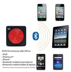 nice Dual Electronics XGPS150 Universal Bluetooth GPS Receiver for iPad 2, iPad, iPod touch, iPhone and Other Smartphones, Tablets and Laptops