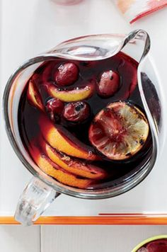 Grilled Citrus and Grape Sangria. Click for our recipe!