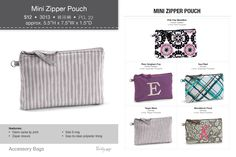 Mini Zipper Pouch Thirty one  Book your Fall party with me!  www.mythirtyone.com/179491