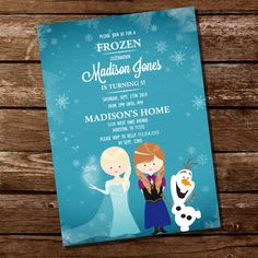 Frozen invitation printable ice princess winter snowflakes frozen inspired invitation for a girl birthday party frozen party instant solutioingenieria Gallery