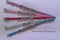 Personalized Bling Rhinestone Heart Charm by SportsandSparkleCo, www.facebook.com/sportsandsparkle