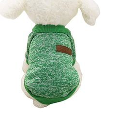 Pet ClothesElevinTM8 Color Puppy Dog Winter Classic Coat Jacket Pet Supplies Clothes Apparel Vest Shirt Fleece Sweater Outwear Costume S Green -- See this great product.