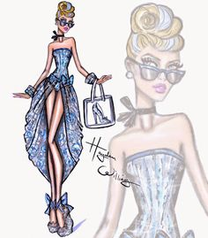 #Hayden Williams Fashion Illustrations: #Disney Divas 'Beach Beauties' by Hayden Williams: Cinderella