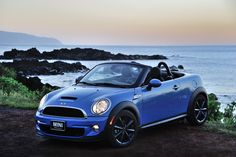 Dusk descends on this roving MINI Roadster.