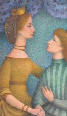 "Ludmila Jiřincová illustration for ""Swan Lake"" Beautiful Library, Swan Lake, Typography Prints, Children's Book Illustration, Landscape Art, Childrens Books, Illustrators, Fantasy Art, Fairy Tales"