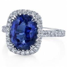 Omi Gems: Sapphire and Diamond Ring #sapphires #jewelry