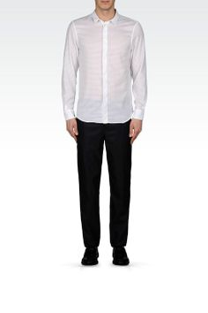 10ae19658d3 Emporio Armani Men SLIM FIT SHIRT IN MESH EFFECT VISCOSE
