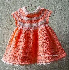 Sweet Nothings Crochet PEACH MELBA BABY DRESS