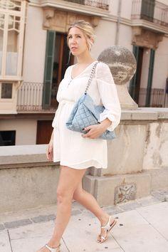 White Dress, das kleine Weiße, Palma, Stella McCartney, Denim, Bag, Sandals, vegan Look, Style, Streetstyle, wiw, ootd, lotd, Look, Lookbook,…