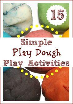 Simple Play Dough Activities
