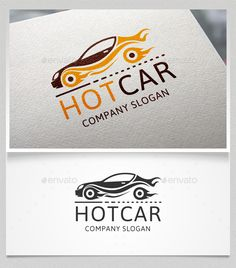 Hot Car Logo Template — Vector EPS #speed #car • Available here → https://graphicriver.net/item/hot-car-logo-template/13668226?ref=pxcr